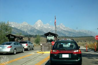 Einfahrt, Grand Teton National Park