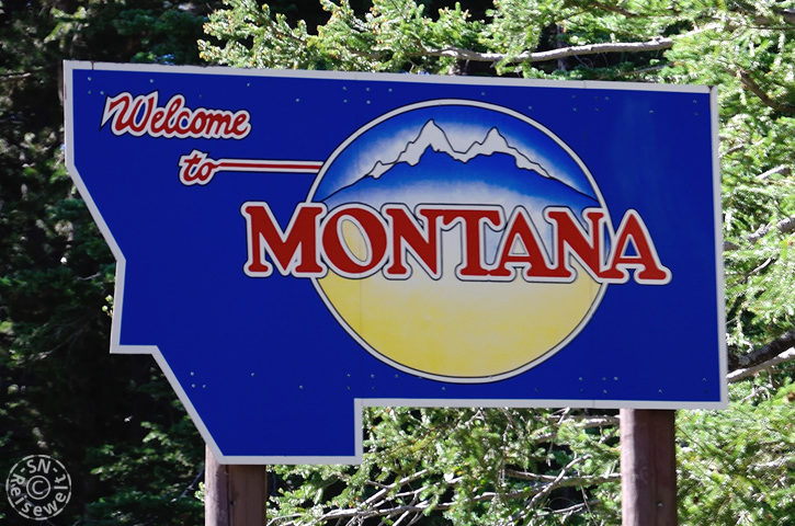 Welcome Sign, Montana