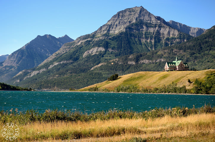 Hotel vom Middle Waterton Lake